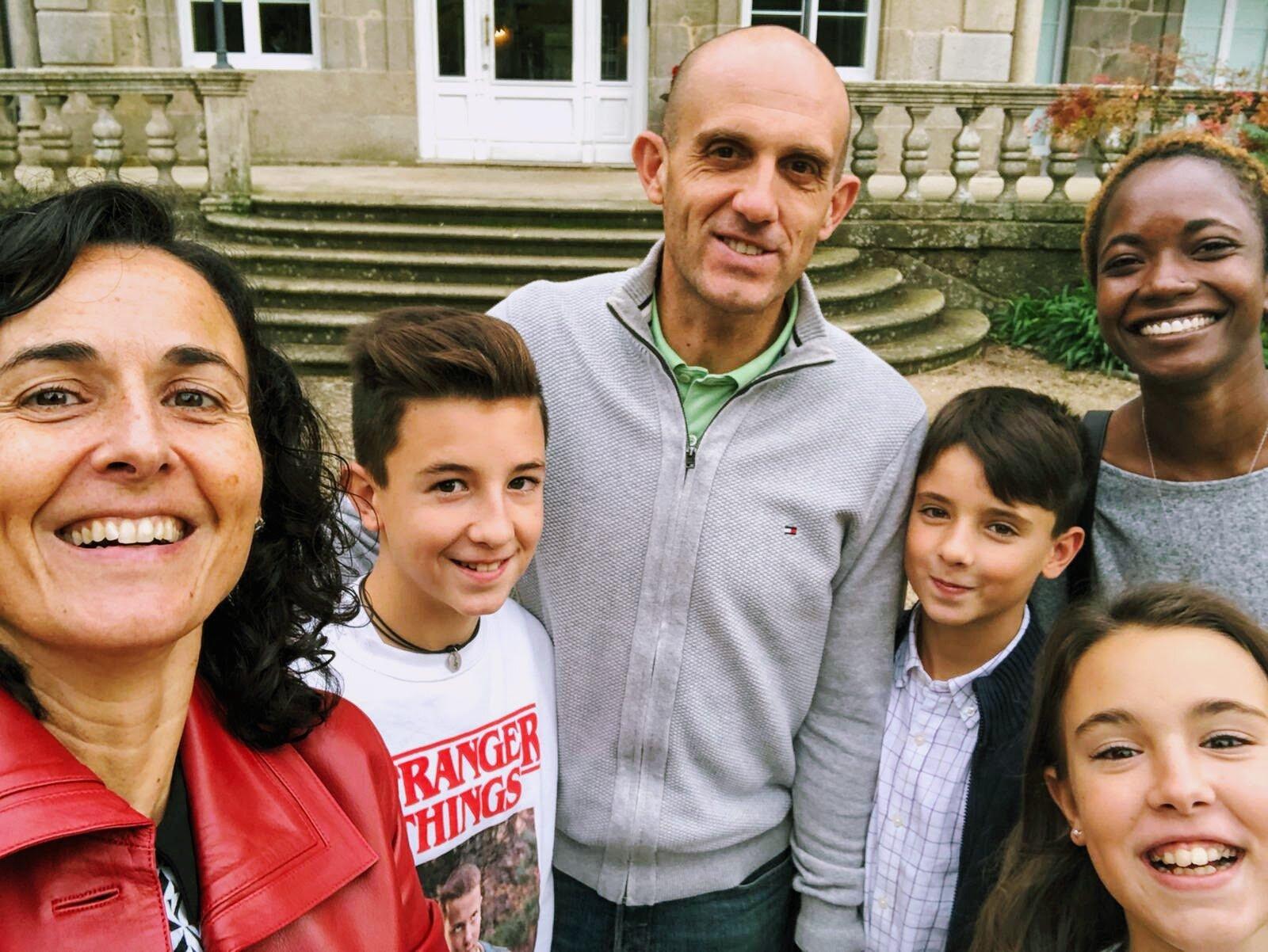Monica, Fernán, Fer, Martino and María (L-R) in Mondariz