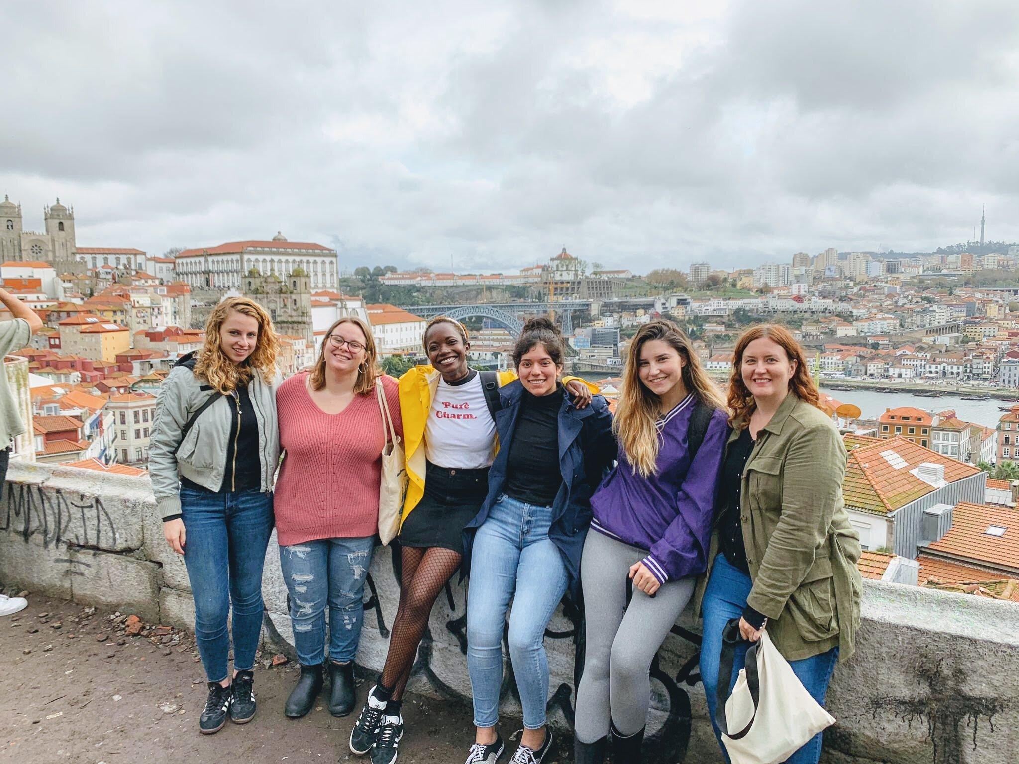 Mirador da Vitória with Maya, Erin, Carla, Anais and Jess (L-R)